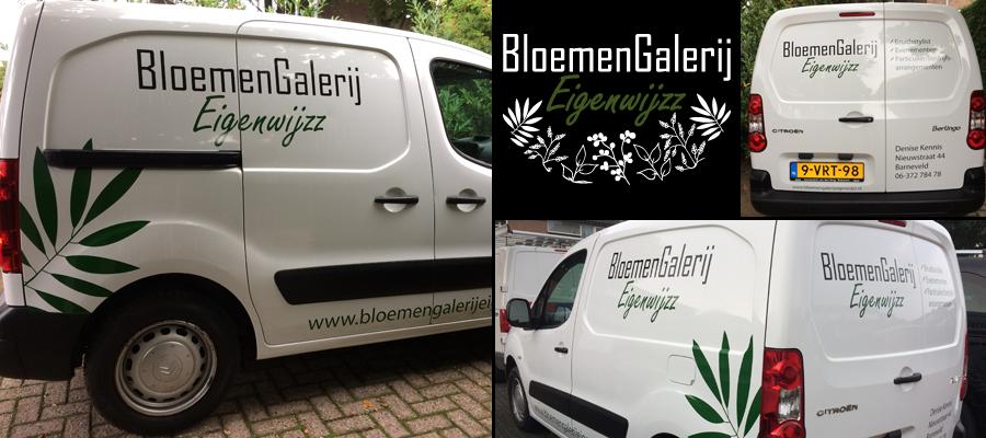 Lekker eigentijdse en eigenwijzze bloemengallerij reclame door van Veldhuizen Reclame.