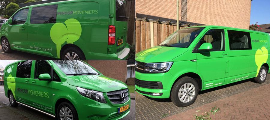 Van Veldhuizen Reclame zorgt voor heel veel groene auto's van 't Wencop natuurlijk