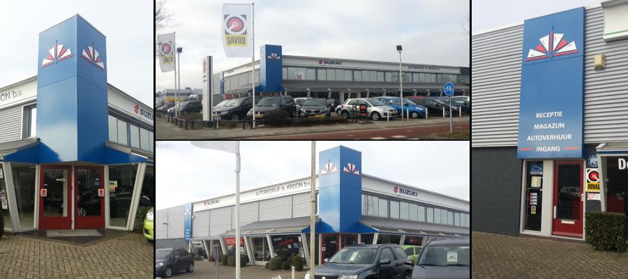 Vernieuwen van de Suzuki Kroon reclame door van Veldhuizen Reclame op de koof voor weer een fris uiterlijk!