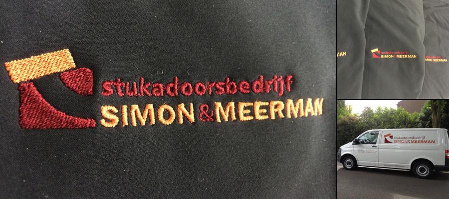 Multi kleur geborduurde logo's, natuurlijk in de huisstijl door van Veldhuizen Reclame.