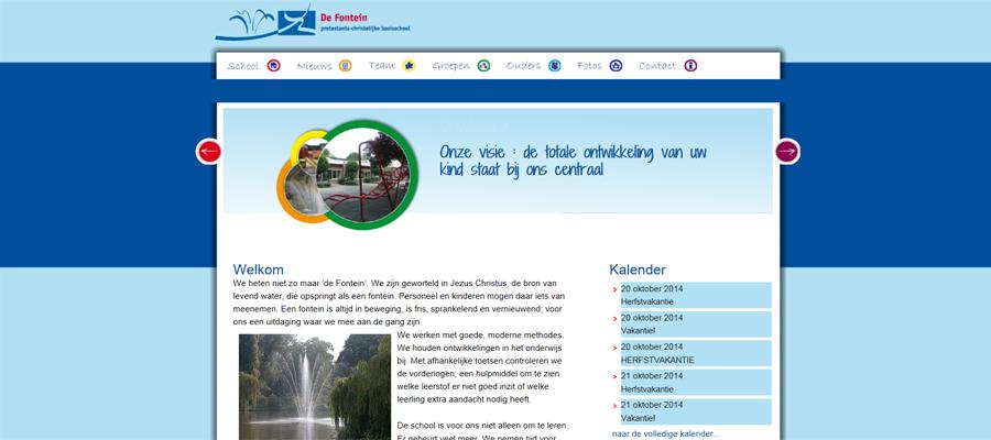 Kleurige en levendige school website ontwerp, uitvoering door SchoolsUnited.