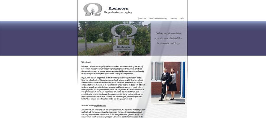 Nieuwe website voor Koehoorn Begravenisonderneming.